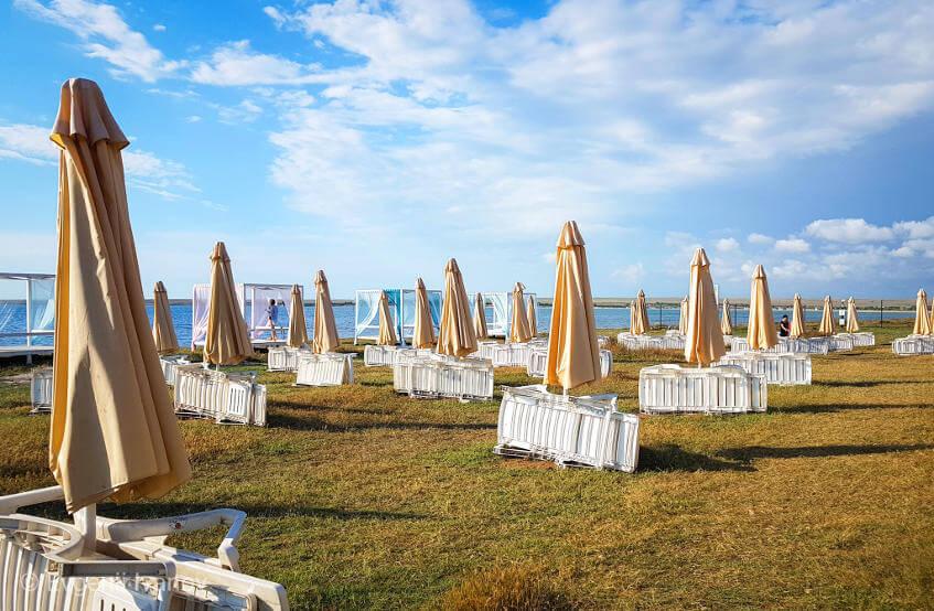 Оборудованные пляжи Оленевки